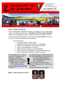 Flyer 2. Fussballcamp SVS 2016